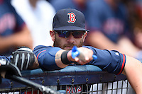 Boston Red Sox outfielder Jonny Gomes (5) before a spring training game against the Tampa Bay Rays on March 25, 2014 at Charlotte Sports Park in Port Charlotte, Florida.  Boston defeated Tampa Bay 4-2.  (Mike Janes/Four Seam Images)