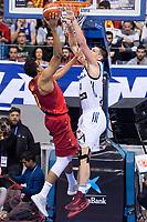 Spain Seba Saiz and Slovenia Gasper Vidmar during FIBA European Qualifiers to World Cup 2019 between Spain and Slovenia at Coliseum Burgos in Madrid, Spain. November 26, 2017. (ALTERPHOTOS/Borja B.Hojas) /NortePhoto NORTEPHOTOMEXICO