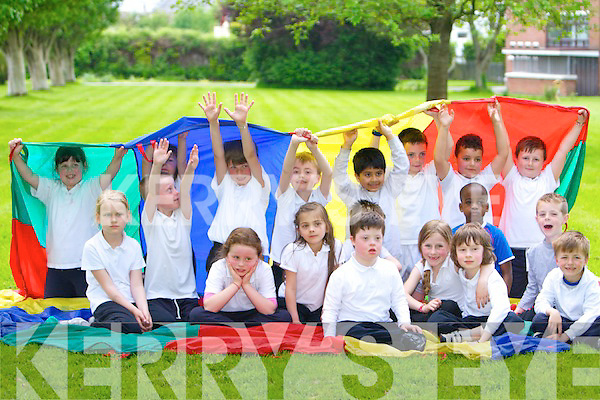 Having great fun at the CBS primary school Tralee Sports Day on Thursday