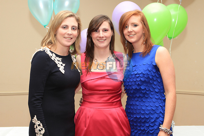 Ann Byrne, Cliona Smith and Rebecca Kirwan at the St. Colmcilles Presentation Night in the Boyne Valley Hotel...(Photo credit should read Jenny Matthews www.newsfile.ie)....