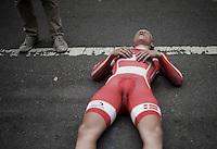 Mads Wurtz Schmidt (DEN) dug deep to become the 2015 U23 TT World Champion<br /> <br /> U23 Men TT<br /> UCI Road World Championships / Richmond 2015