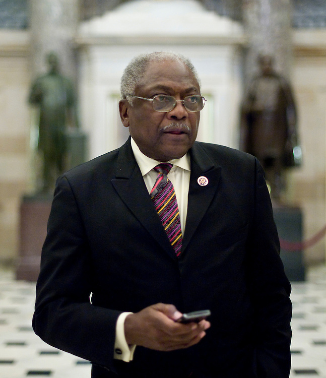 House Majority Whip Jim Clyburn, D-S.C., heads to the House Floor as Congress considers healthcare reform legislation on Saturday, Nov. 7, 2009.