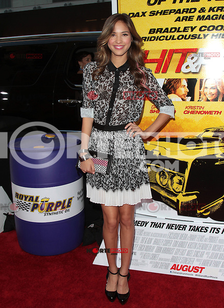 LOS ANGELES, CA - AUGUST 14: Kelsey Chow arrives at the 'Hit & Run' Los Angeles Premiere on August 14, 2012 in Los Angeles, California MPI21 / Mediapunchinc /NortePhoto.com<br />