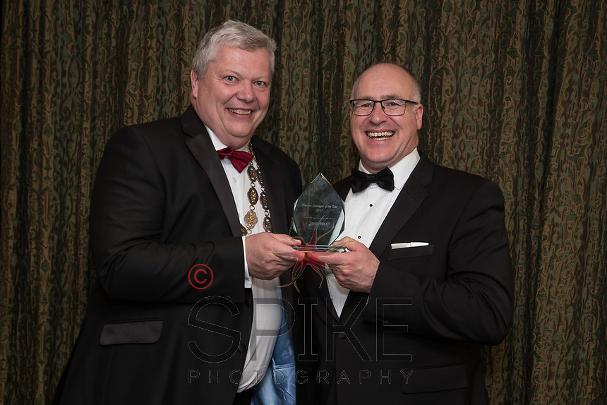 Pictured with Michael Auty QC, President of the Nottinghamshire Law Society is Tony Hill - Practice Manager of the Year