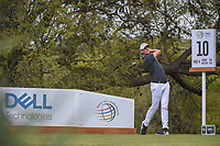 Thomas Pieters (BEL) watches his tee shot on 10 during day 3 of the World Golf Championships, Dell Match Play, Austin Country Club, Austin, Texas. 3/23/2018.<br /> Picture: Golffile | Ken Murray<br /> <br /> <br /> All photo usage must carry mandatory copyright credit (&copy; Golffile | Ken Murray)