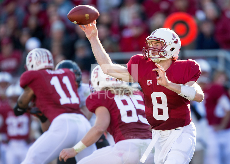 Stanford, CA -- November 10, 2012:  Stanford's Kevin Hogan during the Cardinal's game against Oregon State  at Stanford Stadium. Stanford defeated Oregon State 27-23.