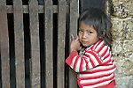 Three-year old Nyda Diaz Vasquez at her home in Tuixcajchis, a small Mam-speaking Maya village in Comitancillo, Guatemala.