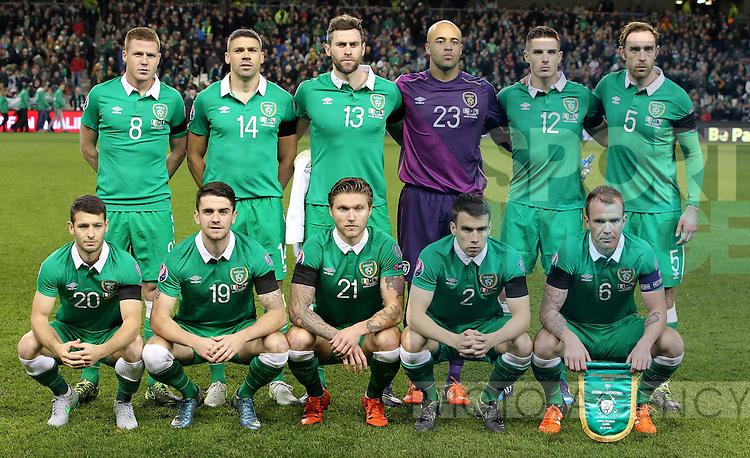 The Irish Team<br /> - UEFA European Championship Qualifying 2nd Leg - Republic of Ireland v Bosnia Herzegovina - Aviva Stadium - Dublin - Ireland - 16th November 2015 - Pic John Halas/Sportimage