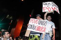 SAO PAULO, SP 18 JUNHO 2013 - MANIFESTACAO CONTRA AUMENTO TARIFA - Manifestação Contra o aumento da tarifa do ônibus cria o sexto protesto desta vez os manifestantes se reuniram em frente a Catedral da Sé e seguiram até em frente a prefeitura, um outro grupo seguiu pela Av. Paulista,  no centro da capitall. FOTO: PAULO FISCHER/BRAZIL PHOTO PRESS.