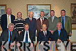 PRIVATE PARTY: Hugh Friel (seated 2nd from right) out-going chief executive officer of Kerry Group, had very appreciative words for the wonderful gifts he received at a private reception, held in the Mount Brandon Hotel on December 20th.  Pictured are, front, l-r: Denis Cregan, Jerry Houlihan, Hugh Friel and Pat Barton. Standing l-r: Neil O'Sullivan, Larry Byrne, Padraig Sayers, Jim Lee, Pat Murphy and Eamonn Burke.   Copyright Kerry's Eye 2008