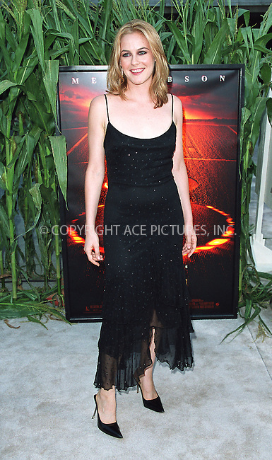 """Alicia Silverstone arrives at the world premiere of Touchstone Pictures' movie, """"Signs"""" at Lincoln Center, New York. July 29, 2002. Please byline: Alecsey Boldeskul/NY Photo Press.   ..*PAY-PER-USE*      ....NY Photo Press:  ..phone (646) 267-6913;   ..e-mail: info@nyphotopress.com"""