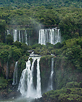 Iguazu Falls National Park in Argentina, as viewed from Brazil.  A UNESCO World Heritage Site.  Pictured is Bernabe Mendez Falls.