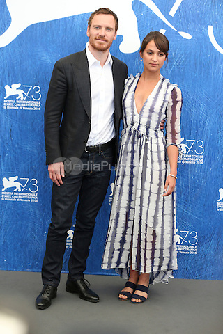 Michael Fassbender, Alicia Vikander attends 'The Light Between Oceans' photocall during the 73rd Venice Film Festival on September 01, 2016 in Venice, Italy. <br /> CAP/GOL<br /> &copy;GOL/Capital Pictures /MediaPunch ***NORTH AND SOUTH AMERICAS ONLY***