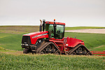 Case-Steiger STX 450 rubber track tractor in field (c. 2004) in the Palouse of Washington