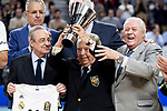 President Florentino Perez and Pedro Ferrandiz before Turkish Airlines Euroleague match between Real Madrid and FC Barcelona Lassa at Wizink Center in Madrid, Spain. December 13, 2018. (ALTERPHOTOS/Borja B.Hojas)