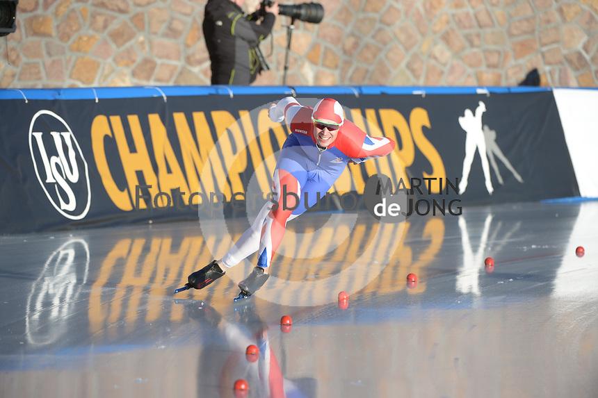 SPEED SKATING: COLLALBO: Arena Ritten, 11-01-2019, ISU European Speed Skating Championships, Cornelius Kersten (GBR), ©photo Martin de Jong