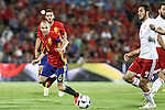 Georgia's Abujarnia and Spain's Andres Iniesta during the up match between Spain and Georgia before the Uefa Euro 2016.  Jun 07,2016. (ALTERPHOTOS/Rodrigo Jimenez)