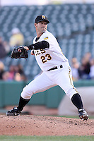 April 27, 2009:  Jeremy Hill of the Salt Lake Bees, Pacific Cost League Triple A affiliate of the Los Angeles (Anaheim) Angles, during a game at the Spring Mobile Ballpark in Salt Lake City, UT.  Photo by:  Matthew Sauk/Four Seam Images
