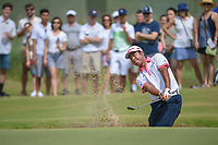 Hideki Matsuyama (JPN) hits from the trap on 4 during round 3 of the AT&amp;T Byron Nelson, Trinity Forest Golf Club, at Dallas, Texas, USA. 5/19/2018.<br /> Picture: Golffile | Ken Murray<br /> <br /> <br /> All photo usage must carry mandatory copyright credit (&copy; Golffile | Ken Murray)