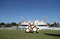Cary, North Carolina  - Saturday August 05, 2017: Nike NWSL balls prior to a regular season National Women's Soccer League (NWSL) match between the North Carolina Courage and the Seattle Reign FC at Sahlen's Stadium at WakeMed Soccer Park. The Courage won the game 1-0.