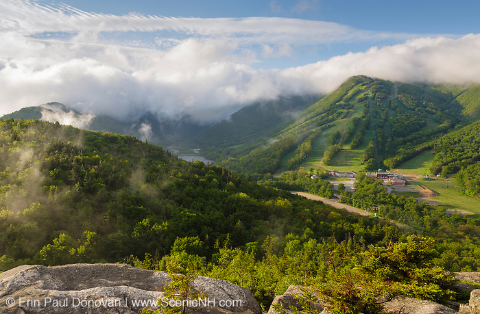 Franconia Notch State Park - Cannon Mountain from Bald Mountain in the White Mountains, New Hampshire.