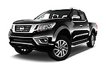 Stock pictures of low aggressive front three quarter view of 2016 Nissan NP300 Tekna 4 Door Pickup Low Aggressive