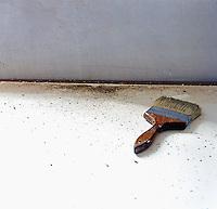 Paint brush on the floor