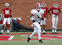 NWA Democrat-Gazette/DAVID GOTTSCHALK   Arkansas Razorback defensive back Chevin Calloway goes through drills Tuesday, August 1, 2017, during practice on campus in Fayetteville.