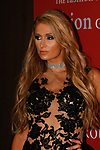 Paris Hilton arrives at The Fashion Group International's Night of Stars 2017 gala at Cipriani Wall Street on October 26, 2017.