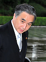 September 2, 2011, Tokyo, Japan - Tatsuo Hirano, state minister in charge of reconstruction, arrives for an attestation ceremony before Emperor Akihito at the Imperial Palace in Tokyo on Friday, September 2, 2011. (Photo by Natsuki Sakai/AFLO) [3615] -mis-
