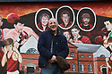 TO GO WITH SPORTS STORY BY Don McRae. Belfast Boxer Eamonn Magee stands near a boxing mural in the Ardoyne area of north Belfast. 01/05/2018 Photo/Paul McErlane