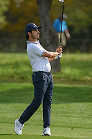 Abraham Ancer (MEX) watches his approach shot on 1 during day 2 of the Valero Texas Open, at the TPC San Antonio Oaks Course, San Antonio, Texas, USA. 4/5/2019.<br /> Picture: Golffile | Ken Murray<br /> <br /> <br /> All photo usage must carry mandatory copyright credit (© Golffile | Ken Murray)