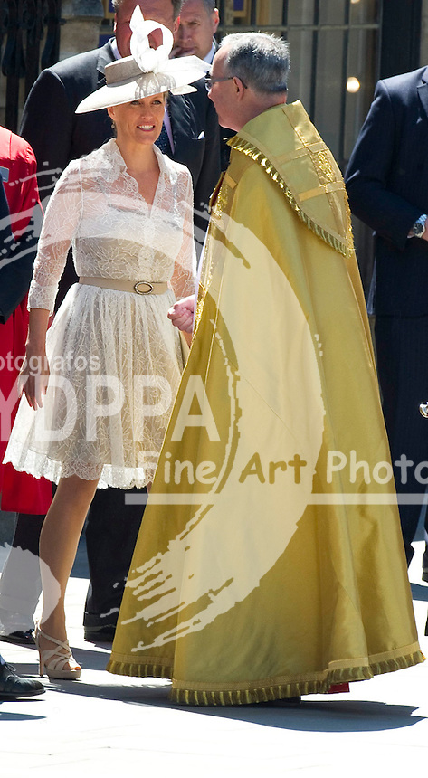 The Countess of Wessex leave the 60th Anniversary of the Coronation Service at Westminster Abbey in London, Tuesday, 4th June 2013<br /> Picture by  i-Images/DyD Fotografos