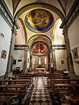 Nave and altar, St. Rocco Parish church, Lasciano, Tuscano, Italy