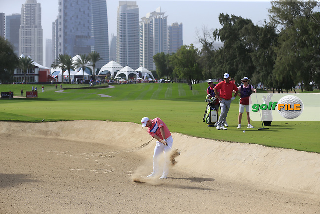 Stephen Gallacher (SCO) on the 1st fairway during Round 2 of the Omega Dubai Desert Classic, Emirates Golf Club, Dubai,  United Arab Emirates. 25/01/2019<br /> Picture: Golffile | Thos Caffrey<br /> <br /> <br /> All photo usage must carry mandatory copyright credit (© Golffile | Thos Caffrey)