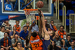Montakit Fuenlabrada's Moussa Diagne and FC Barcelona Lassa's during the match of Endesa ACB League between Fuenlabrada Montakit and FC Barcelona Lassa at Fernando Martin Stadium in fuelnabrada,  Madrid, Spain. October 30, 2016. (ALTERPHOTOS/Rodrigo Jimenez)