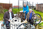 Cllr Niall Kelliher, Michael O'Mahony and John O'Neill who are appealing for peoole to donate their scrap metal for Rathmore Scrap collection