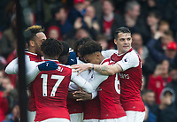 Arsenal's players celebrating Danny Welbeck goal during the EPL - Premier League match between Arsenal and Southampton at the Emirates Stadium, London, England on 8 April 2018. Photo by Andrew Aleksiejczuk / PRiME Media Images.