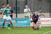 Lloyd Hayes of Doncaster Knights scores the opening try of the match. Pre-season friendly match, between Doncaster Knights and Newcastle Falcons on August 25, 2018 at Castle Park in Doncaster, England. Photo by: Patrick Khachfe / Onside Images