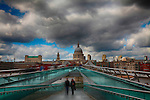 Millenium Bridge and St Pauls Cathedral, London, UK