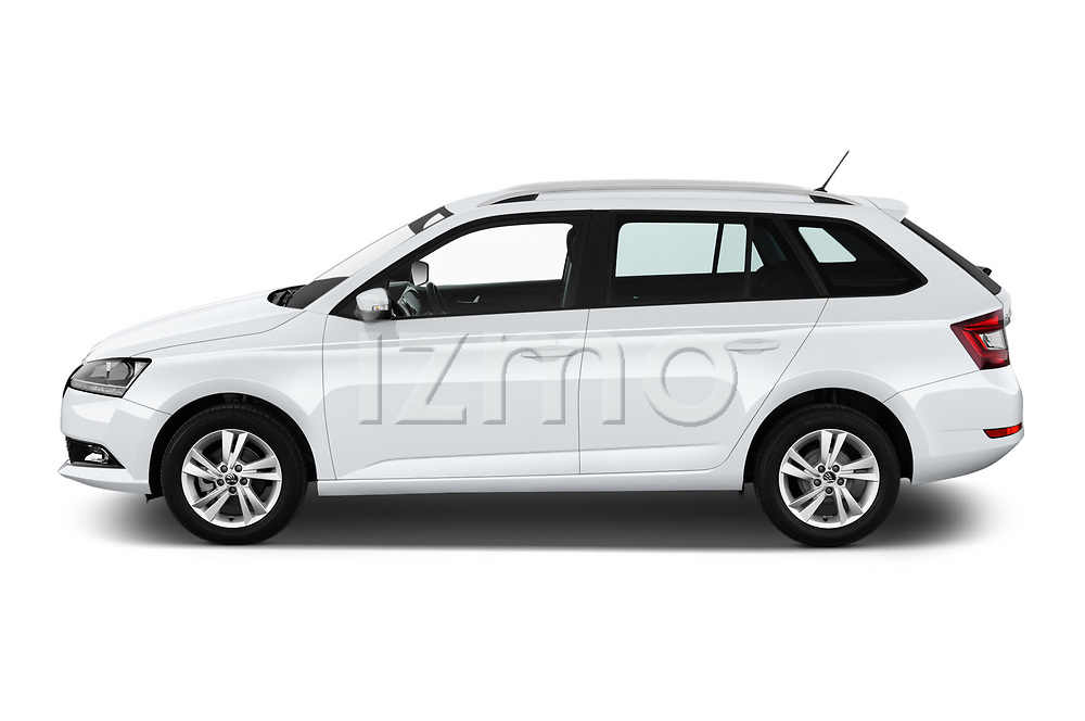 Car Driver side profile view of a 2019 Skoda Fabia-Combi Ambition 5 Door Wagon Side View