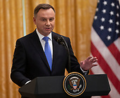 President of the Republic of Poland Andrzej Duda participates in a news conference with United States President Donald J. Trump at The White House in Washington, DC, September 18, 2018. Credit: Chris Kleponis / CNP