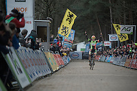 An emotional Wout Van Aert (BEL/Crelan-Vastgoedservice) is Belgian National Champion for the very first time<br /> <br /> 2016 Belgian National CX Championships