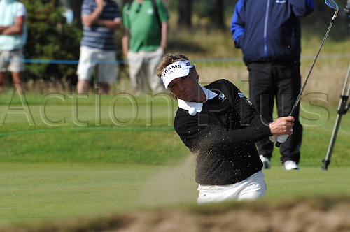 23/07/2010 Bernard Langer (GER)  in action in the second round of the Mastercard British Senior Open Golf Championship on the Championship Course at Carnoustie, Angus, Scotland