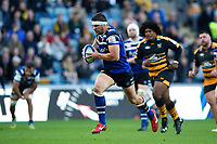 Charlie Ewels of Bath Rugby runs in a second half try. Heineken Champions Cup match, between Wasps and Bath Rugby on October 20, 2018 at the Ricoh Arena in Coventry, England. Photo by: Patrick Khachfe / Onside Images