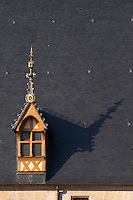 roof detail hospices de beaune hotel dieu beaune cote de beaune burgundy france