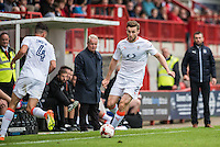 Stephen O'Donnell of Luton Town (2)  during the Sky Bet League 2 match between Crawley Town and Luton Town at the Broadfield/Checkatrade.com Stadium, Crawley, England on 17 September 2016. Photo by Edward Thomas / PRiME Media Images.