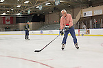 Frank Meyers skates with other OU Hockey alumni from the 1960s in Bird Arena on October 1, 2016.