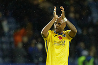 Andre Ayew of Swansea City thanks away supporters after the Sky Bet Championship match between Sheffield Wednesday and Swansea City at Hillsborough Stadium, Sheffield, England, UK. Saturday 09 November 2019