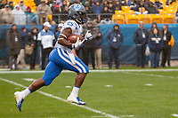 Duke running back Deon Jackson. The Pitt Panthers football team defeated the Duke Blue Devils 54-45 on November 10, 2018 at Heinz Field, Pittsburgh, Pennsylvania.